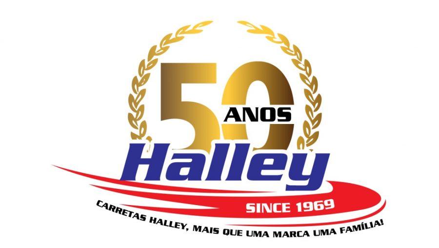 Logomarca Comemorativa de 50 Anos da Halley